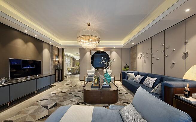 现代简约风三居室装修设计