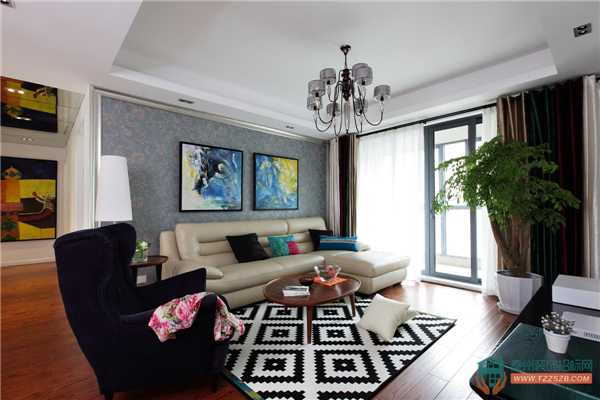 泰州现代简约三居室设计案例