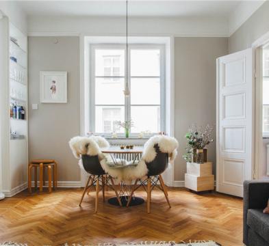 欧式两居室装修效果图