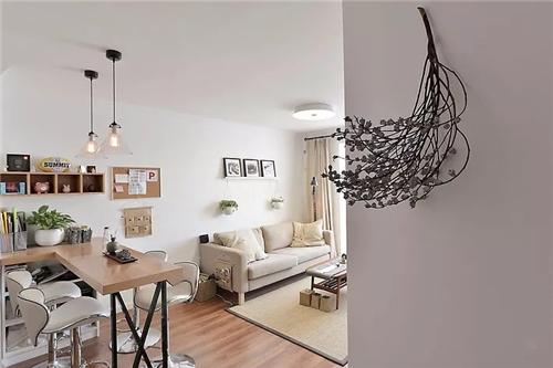 50㎡旧房改造为日式混搭的室单身公寓