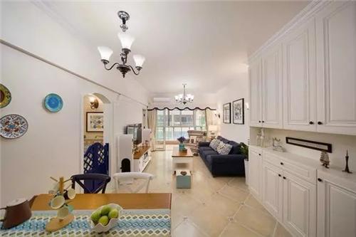 87㎡小户型装成美式复古风情的2室2厅2卫
