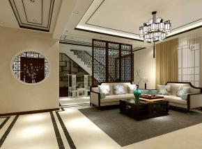 新中式风格室内效果图