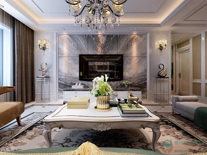 139平米三居室设计说明,7万元装修的欧式风格有什么效果?