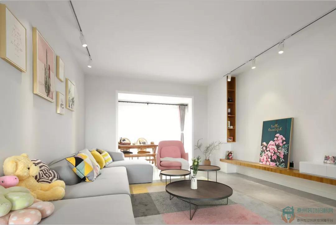 120㎡北欧新房,唯美客厅大气有活力,卫生间双台盆实用极了!