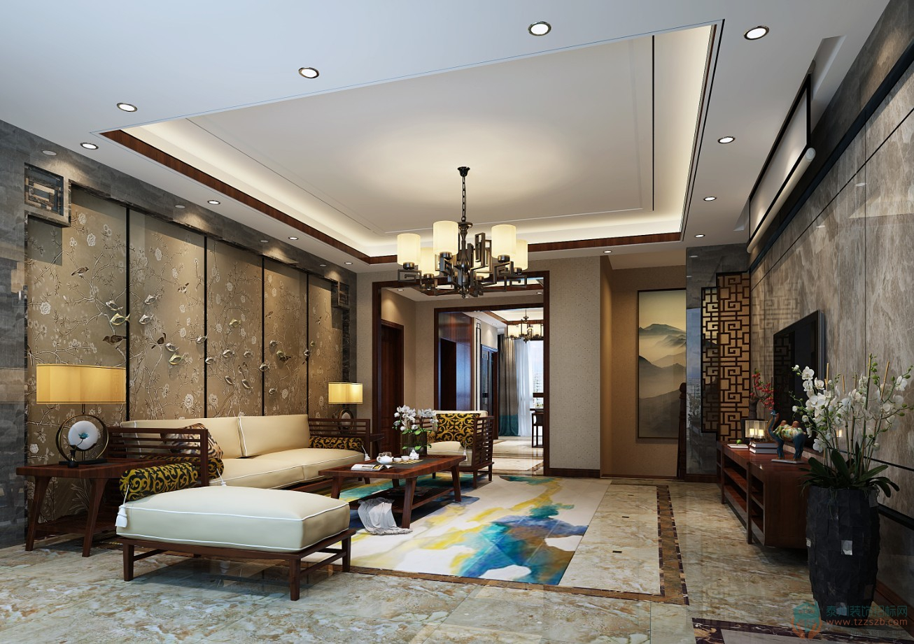 中式三居室   对中国传统文化风格的演绎!